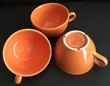 Three Rare Art Deco Tams Pottery English Porcelain Cups In Perfect Condition
