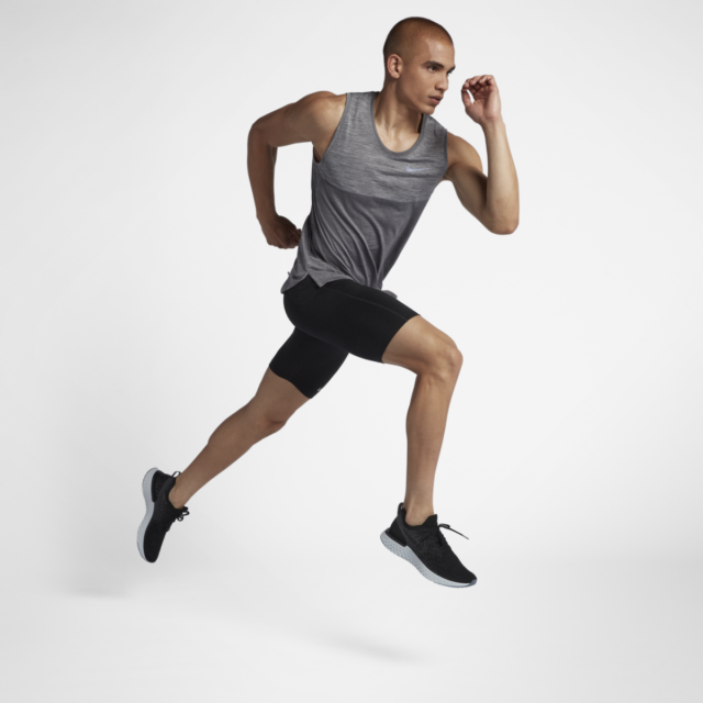 Razón Ministerio necesidad  Nike Dri-Fit Medalist Running Tank DRY Knit gunsmoke Grey 924613 ...
