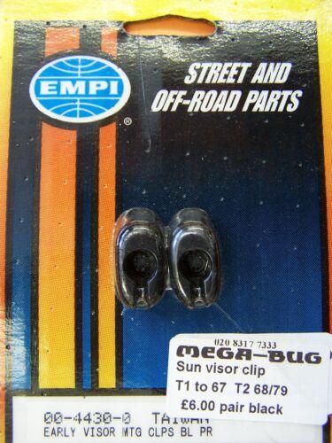 VW Beetle 1967 et de Type 2 1968-1979 pare-soleil clips noir