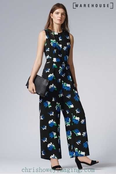 Sold Out  BNWT Warehouse INK pink Floral Jumpsuit Size UK10