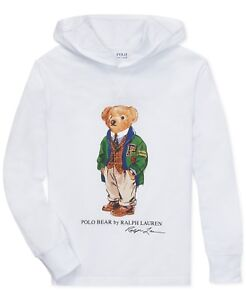 Ralph Bear Big Top Details Lauren T 1820 New Hoodie Size Shirt Boys Cotton About Polo QhdsrBtCx
