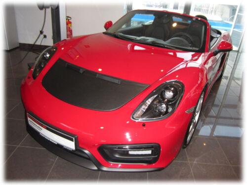 CAR HOOD BRA CARBON fit Porsche Boxster Cayman Typ 981 since 2012  NOSE MASK