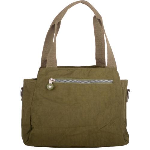 /'Small Messenger/' Womens Crinkled Nylon Shoulder Bag Ladies Hand Bag