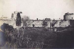Costantinopoli le Pareti Turchia Foto Vintage Analogica