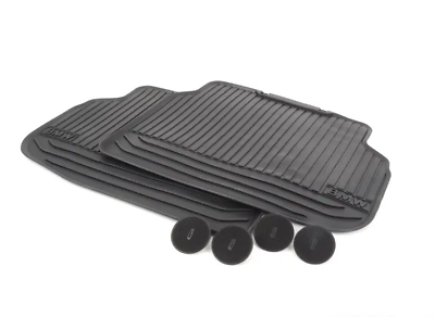 BMW NEW GENUINE 7 SERIES F01 F02 FRONT ALL WEATHER BLACK RUBBER FLOOR MATS LHD