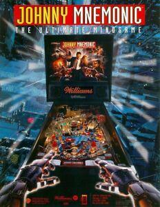 Williams-JOHNNY-MNEMONIC-1995-Original-NOS-Flipper-Game-Pinball-Machine-Flyer