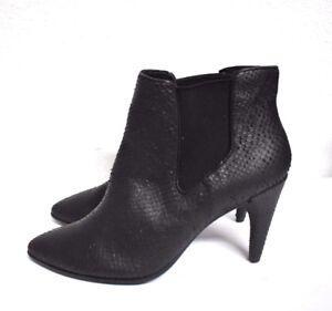 0a272365228 New ECCO Shape 75 Pointy Chelsea Women s Heels Ankle Boots Snakeskin ...