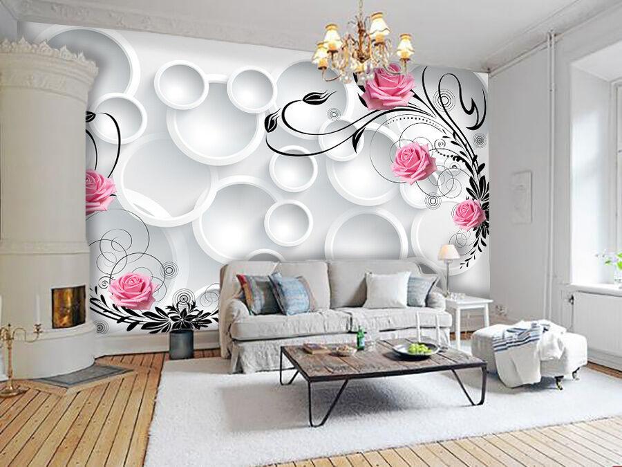 3D Simple Circle Flower8 Paper Wall Print Decal Wall Wall Murals AJ WALLPAPER GB