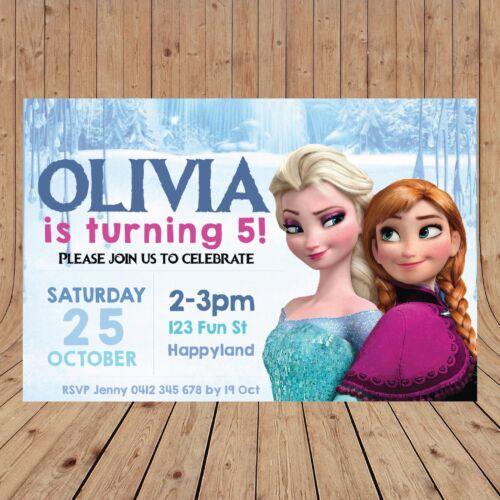 YOU PRINT Personalised FROZEN Invitations Invites DIGITAL