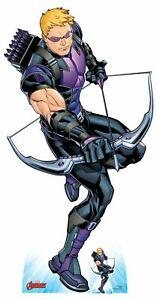 Hawkeye-holding-Bow-and-Arrow-Official-Marvel-Cardboard-Cutout-with-Free-Mini