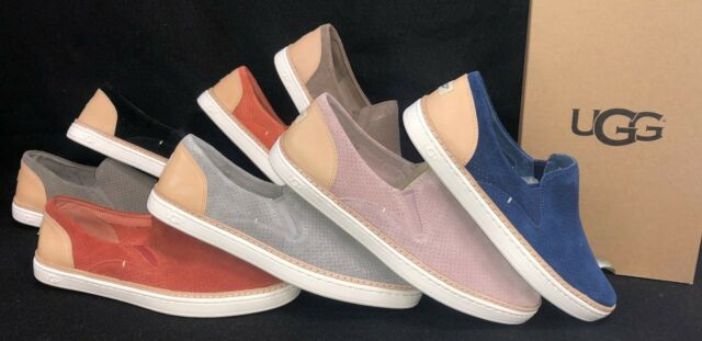 eb9f386be18 Ugg Australia Adley Perf Women's Fashion Sneakers Suede Leather Slip On  1018375