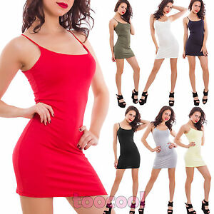 Caricamento dell immagine in corso Vestito-donna-miniabito -canotta-basic-aderente-senza-maniche- f72abca4ef3