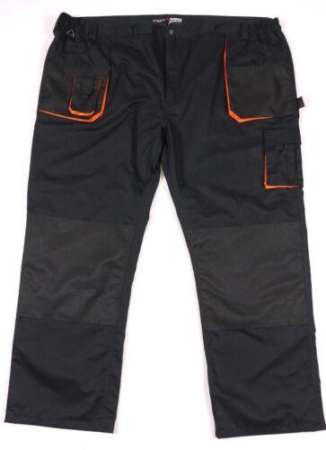 Verdadera talla grande!!! top trabajo pantalones de Abraxas en negro 3xl - 10xl