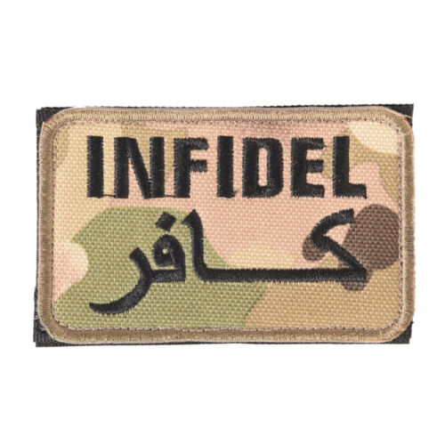 embroidery badge infidel camouflage embroideredmilitary tactical armband patchM/&