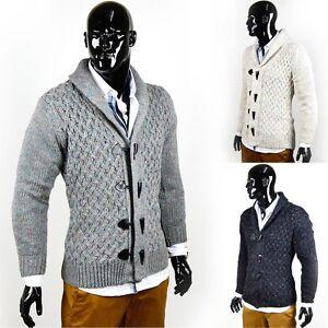 Nouveau-Hommes-tricot-veste-norvegiens-pull-veste-sweat-shirt-tricot-pull