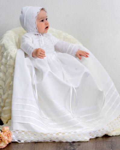 Taufkleid mit Mütze Baby*Junge*Mädchen HALBLEINEN 56-62-68-74-80-86
