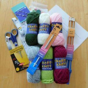Kit De Crochet Tejer principiantes aprender a tejer patrones todo agujas de lana