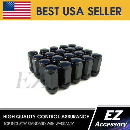 Lug Nuts Bulge Acorn 14x1.5 Chevy GM Black 1.75 Long 20