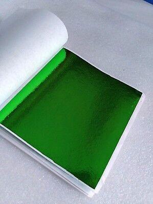 100 sheets Imitation silver leaf champagne silver color leaf  9x9cm A041
