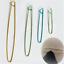 4 Sizes Aluminum Knitting Crochet Locking Stitch Marker Needle Clip Holders