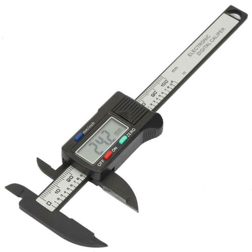 Practical 100 mm Plastic Electronic Digital Caliper with Large LCD Screen SH