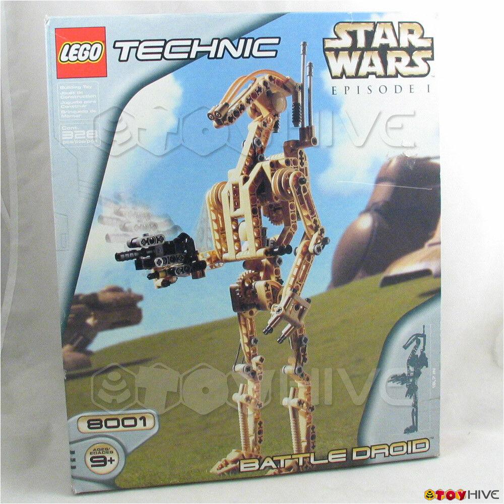 Lego Estrella Wars Droide De Batalla 8001 Sellado bolsas de plástico-Usado Caja