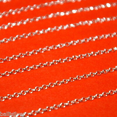 1.8mm Round ROLO Sterling Silver 925 BULK Continuous Chain Sold by the foot