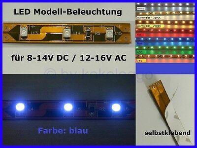 S336 illuminazione a LED blu 5 cm Autoadesivo 8-16v fiera discoteca CASE Circo