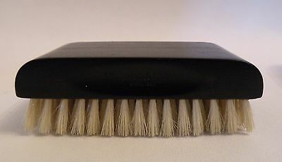 are26 VINTAGE BLACK EBONY WOOD CLOTHES OR HAIR BRUSH WITH NATURAL BRISTLES