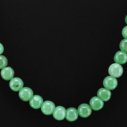 A exigé 318.00 Cts Naturel Non Traité Vert Jade Perles rondes Collier-Gem EDH