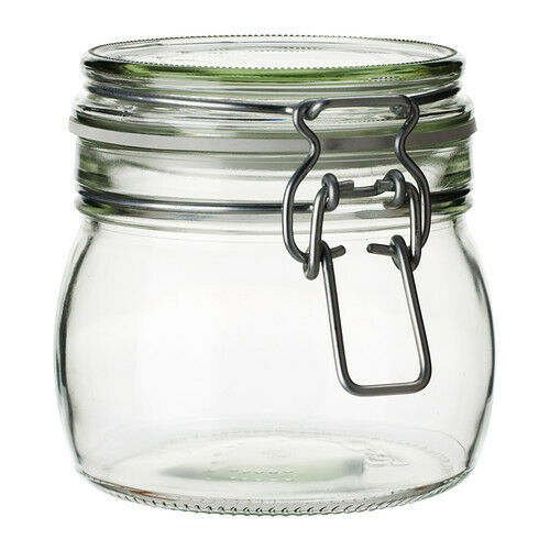 Ikea Korken Jar With Lid Clear Gl 17 Oz Jam Preserves Canister 202 279 84 Ebay