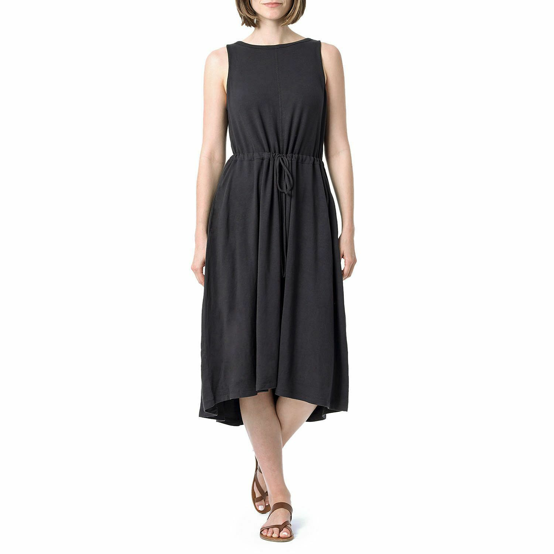 The Limited sleeveless French terry drawstring waist midi Dress Größe MEDIUM
