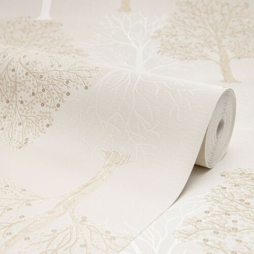 35250 Holden Decor Ornella Tree Pattern Wallpaper Cream