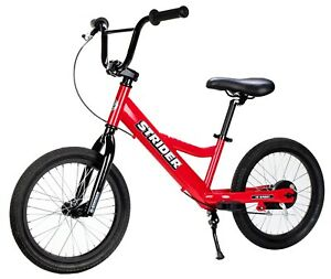 STRIDER 16 Sport Kids Balance Bike No-Pedal Learn To Ride Pre Bike Red NEW
