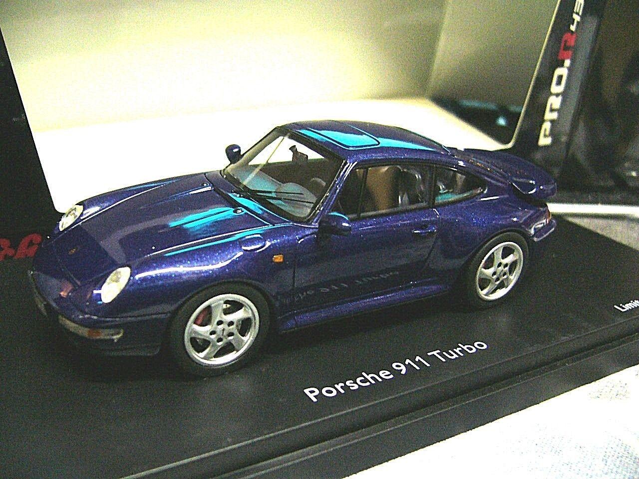 Porsche 911 Turbo 993 1995 bleu Bleu Resin highenddetail SCHUCO PRO R résidus 1 43