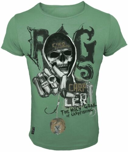 Hotspot Design T-Shirt Rig Karpfenangler Freizeitshirt Skull Collection