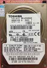 """TOSHIBA 40 GB Interna 2.5"""" 16 MB IDE 5400 RPM MK4026GAX Hard Disk Drive HDD"""