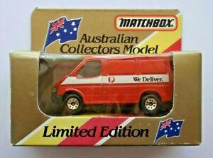 Matchbox Rare Australia Post We Deliver Ford Transit Van Ltd Edition In Org Box Ebay
