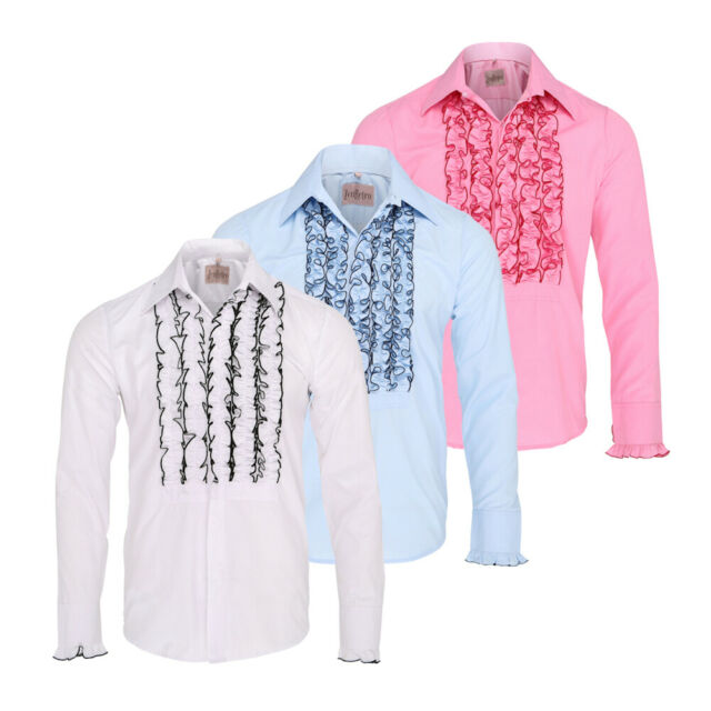 Chenaski Mens Retro Ruche Chocolate Ruffle Tuxedo Shirt Tux Frill Dinner  Party 2xl for sale online | eBay