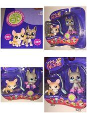 LITTLEST PET SHOP PET PAIRS CORGI GREAT DANE ROLLER SKATES 183 184 NEW 2006