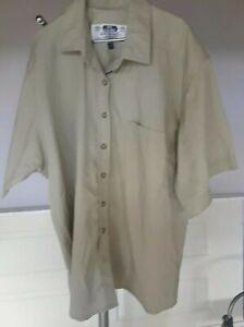 Tilley-Endurables-034-Give-em-Hell-034-Vintage-Safari-Shirt-Tan-Mens-XL-Short-Sleeve-Q