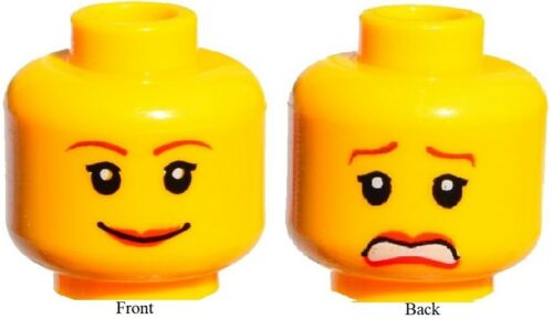 ☀️NEW Lego Female MINIFIG HEAD Girl Red Lip Smile Police//Agents//friend Princess
