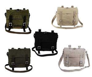 Canvas Haversack Messenger Shoulder Bag/bags Satchel Military Styling 5 Colour Ein Bereicherung Und Ein NäHrstoff FüR Die Leber Und Die Niere Taschen