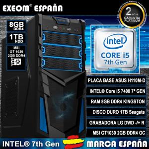 Ordenador-Gaming-Pc-Intel-Core-I5-7400-7th-8GB-1TB-GT1030-2GB-DDR4-De-Sobremesa