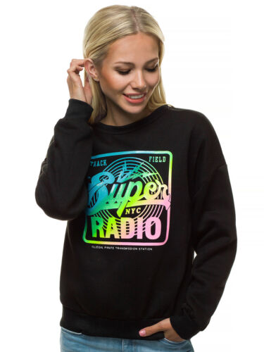 Sweatshirt Pullover Rundhals Langarmshirt Sport Aufdruck Print OZONEE 1008 Damen
