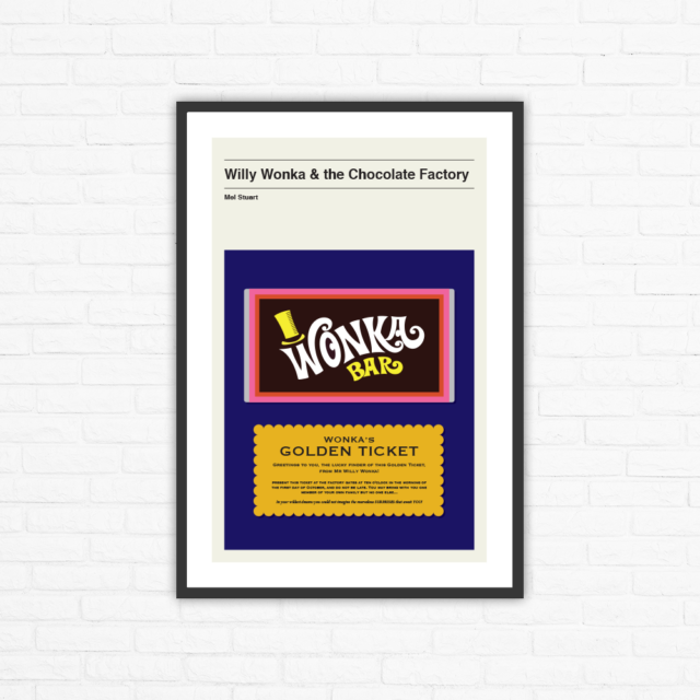 Willy Wonka and The Chocolate Factory Poster 12x18