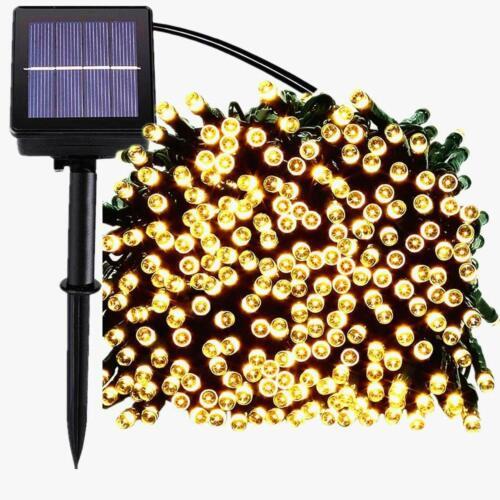 100//200 LED Solar Power String Fairy Lights Garden Outdoor Party Christmas Lamp