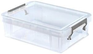 Small-Craft-Storage-Boxes-Clear-Stackable-With-Clip-Lid-Storage-Containers-2-3L