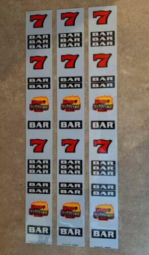 "IGT /""Sizzling 7/'s/"" Slot Machine Reel Strips FAST FREE SHIP! W-11"