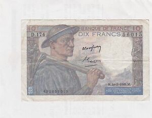 BILLET DE 10 FRANCS MINEUR 1949 D-174 TTB - France - Valeur faciale: 10 Francs - France
